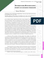 """Paz Liberal e """"International Statebuilding"""", Crítica y Surgimiento de Un Nuevo Paradigma - JORGE ESTEVEZ (1)"""
