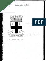 Estatuto Dos Servidores Públicos Municipais de Cruz Das Almas(Lei Complementar 01/95 de 21 de fevereiro de 1995