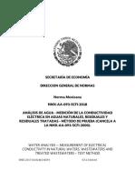 NMX AA 093 SCFI 2018 Determinación de Conductividad