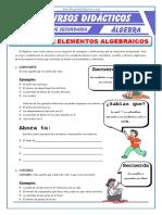 Revisión de Elementos Algebraicos Para Primero de Secundaria