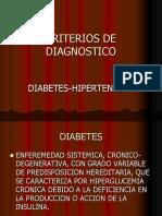 Criterios de Diagnostico DM y HTA