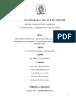 Pis - Implementación de Una Aplicación Para La Resolución de Problemas Con Matrices en La Carrera de Tecnología de La Información