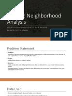 Toronto Neighborhood Analysis Presentation