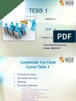 Tesis 1 - Clase 1 Lineamientos VBL 2019-2