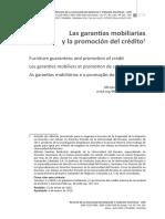 Artículo Garantías Mobiliarias y Acceso al Crédito
