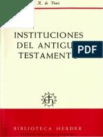 Instituciones del Antiguo Testamento