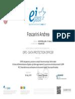 Dpo Certificate Foscarini