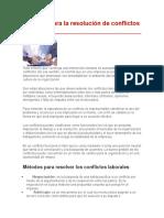 Métodos Para La Resolución de Conflictos Laborales