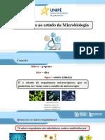 Aula 1. Introdução ao estudo da microbiologia