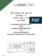 Hardness Reqm of Static Eqpt (Pressure Vessels, Heat Exchanger) 6-12-0001