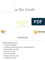 GST - input tax credit - Puneet Agrawal - 10 08 16 - NIRC of ICAI.pptx