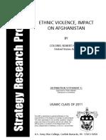 ETHNIC VIOLENCE, IMPACT ON AFGHANISTAN
