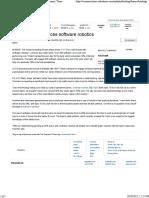 Banks using software robotics