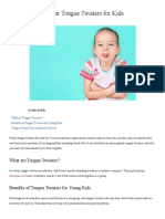 20 Short and Easy Tongue Twisters in English for Kids