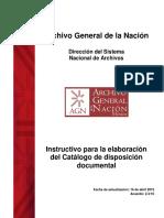 Catalogo de disposición documental AGN