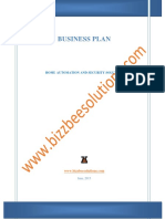 037 Sample Business Plan Home Automation and Security Solution