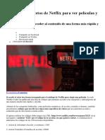 Códigos Netflix
