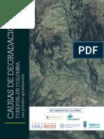 Causas de degradación forestal