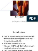 management of  Back Pain in adults