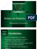 Budgets and Budgetary Control