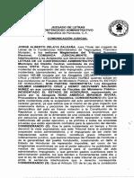 ComunicadoJudicial No33 CSJ Honduras