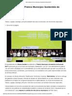 Premio Municipio Sostenible de Euskadi 2017 _ Sociedad _ EiTB