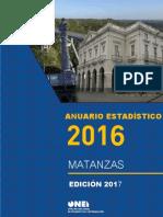 Anuario estadístico de Matanzas