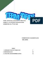 Term Paper Videocon