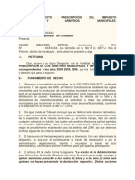 245706573 Modelo Solicitud Prescripcion de Tributos Municipales