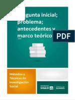 Pregunta Inicial_ Problema_ Antecedentes y Marco Teórico
