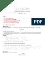 Diagonalización de Una Matriz