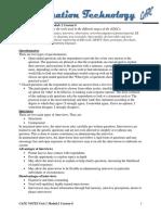 Cape information  technology Notes Unit1 Module 2 Content 6