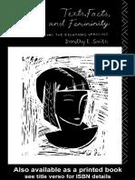 Texts, Facts and Femininity  ByDorothy E. Smith