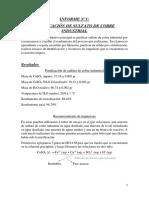PURIFICACIÓN DE SULFATO DE COBRE INDUSTRIAL