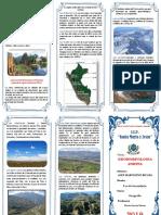 Triptico Geomorfologia Andina