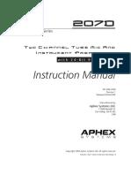 Aphex 207D User Manual