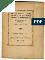 origen del estado matlazinca en michoacán