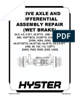 DRIVE AXLE AND DIFFERENTIAL ASSEMBLY REPAIR (WET BRAKE)hyster