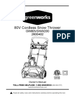 GW 20in 80V Brushless Snow Thrower E Manual Final