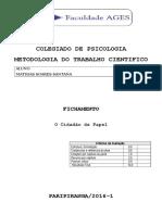 Fichamento - O Cidadão de Papel