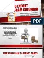 Guide to Export Goods From Colombia