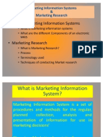 Mkt Info System & Mkt Research