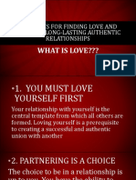 Ten Rules for Finding Love and Creating Long-lasting