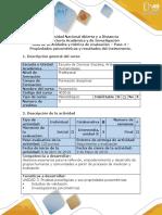 Guía de actividades y rúbrica de evaluación - Paso 4 - Propiedades psicometricas y resultados del instrumento.docx