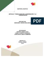 Actividad de Aprendizaje 13 Evidencia 1 Articulo Tecnologias de La Información y La Comunicación1