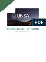 Determinacion de Plomo -