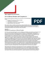 MSc Applied Neuroscience Module Guide