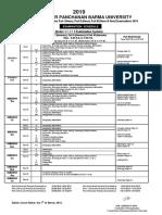 UG (1+1+1) Part-I,II & III Schedule, 2019