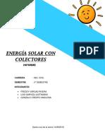 Energia Solar Con Colectores