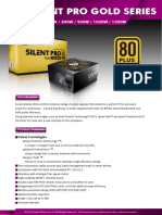 Cooler Master Silent Pro PSU spec sheet